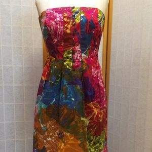 Gorgeous strapless colorful dress!